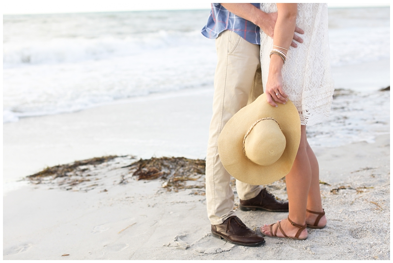 Engagement session beach hat