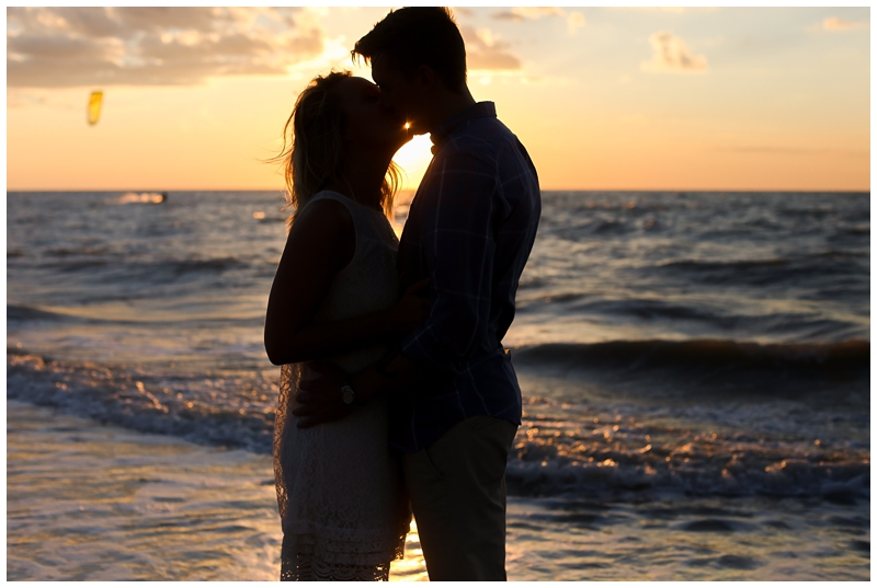 Sunset silhouette beach photo