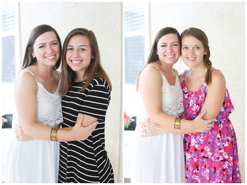 bride bridesmaids sisters