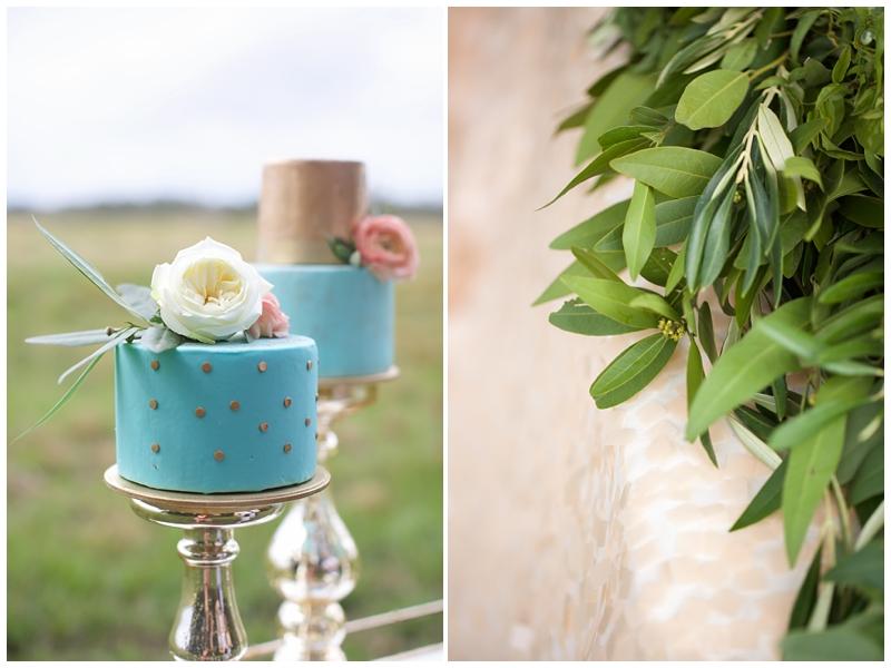 serenity blue wedding cake