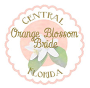 orange blossom bride wedding