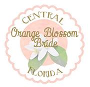orange blossom bride wedding