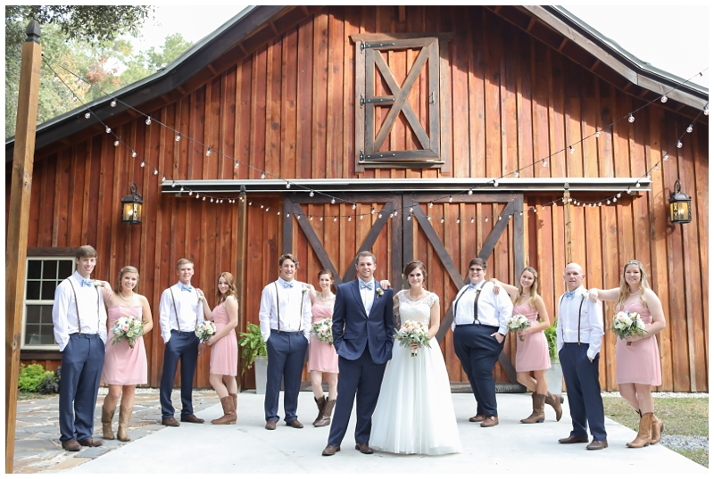 bridal party barn doors