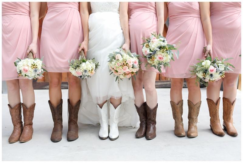 cowboy boots bridesmaids