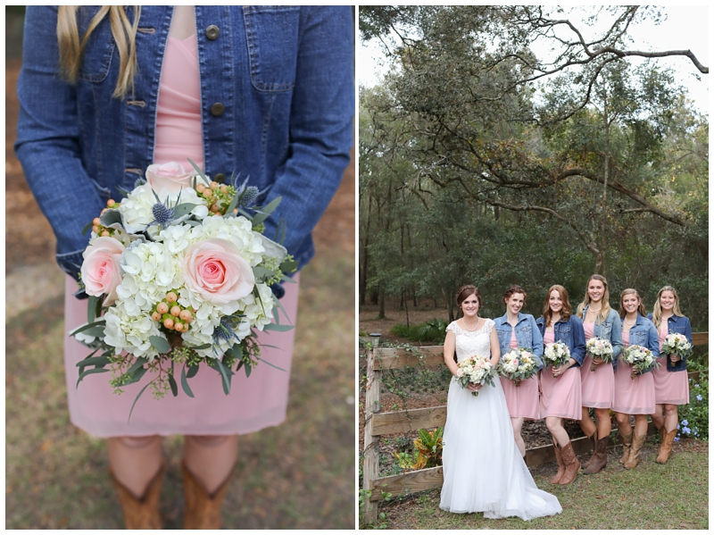 denim jackets cowboy boots bridesmaids