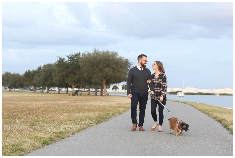Walking with dog pose