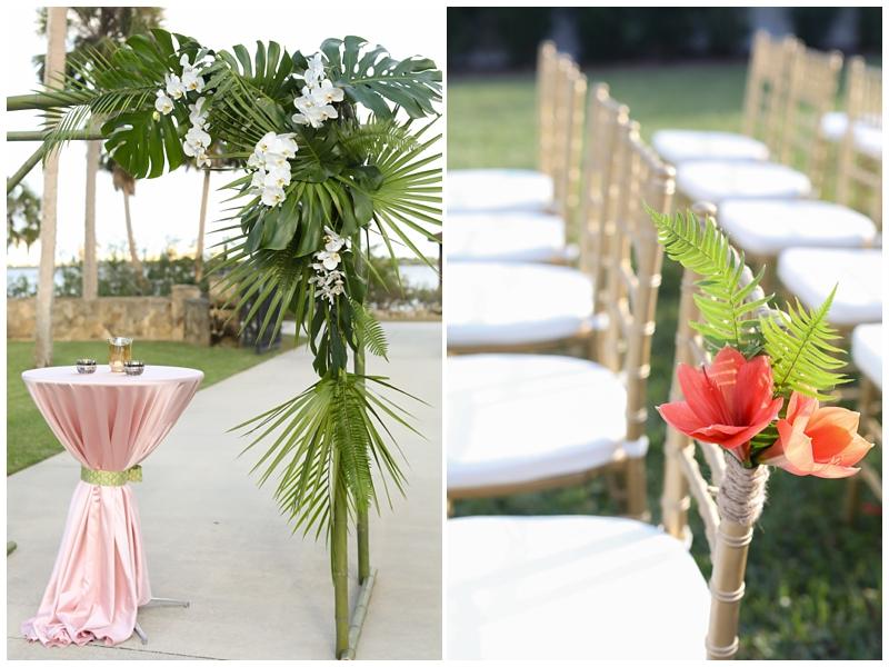 Palm ceremony altar