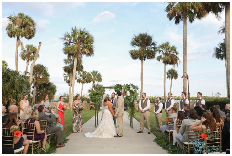 Palm trees wedding