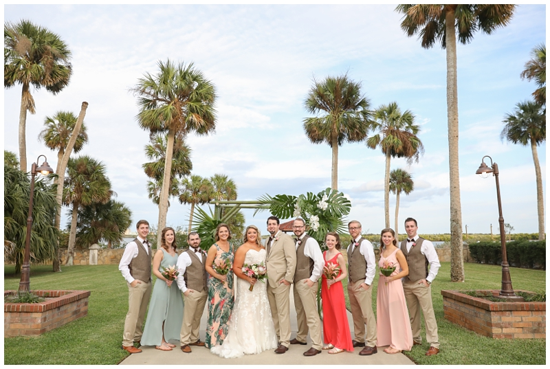 Tropical bridal party