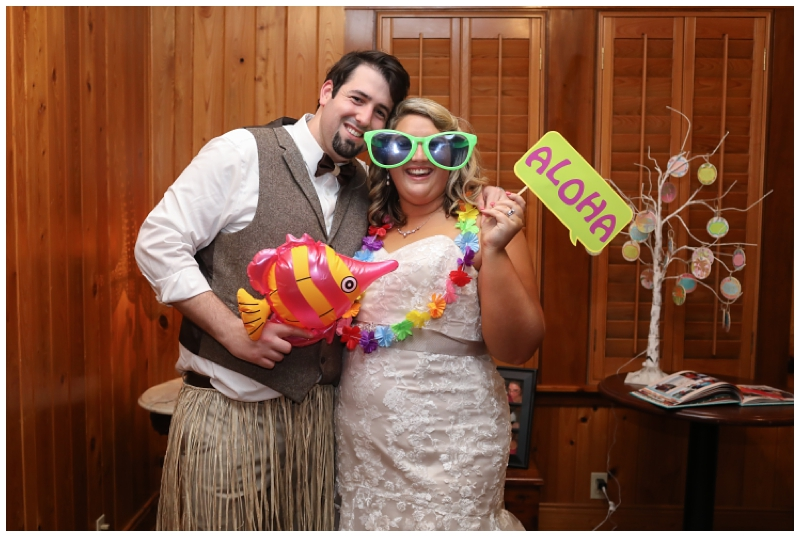Tropical wedding photo booth