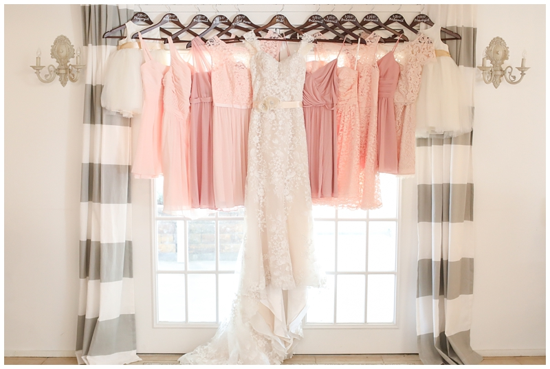 Soft Pink mismatched bridesmaid dresses