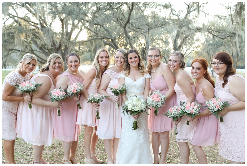 Soft Pink Mismatched bridesmaids dresses