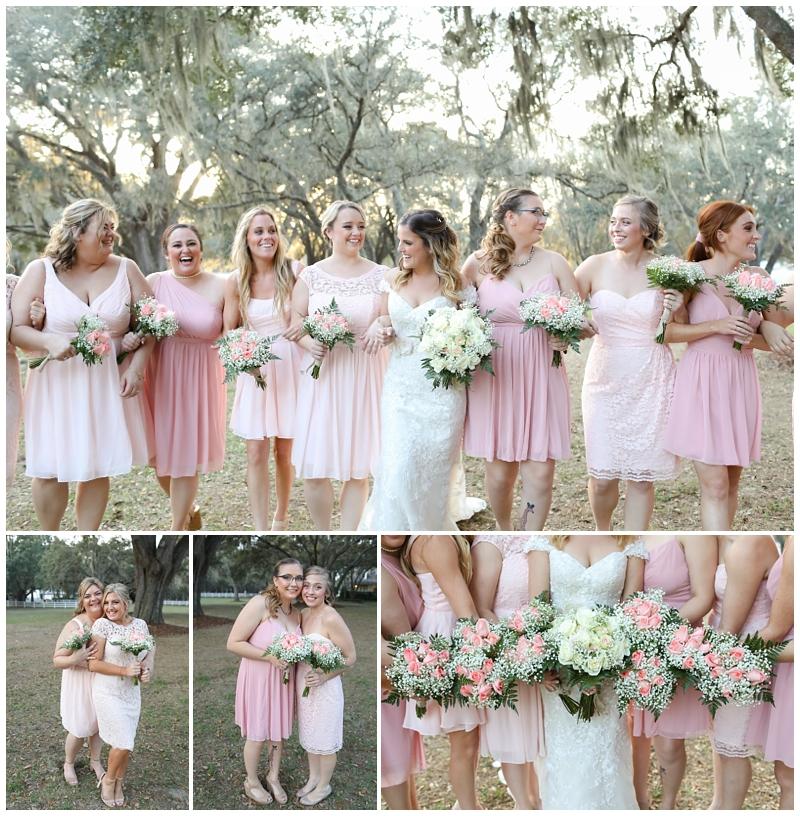 Soft Pink Bridesmaids Dresses