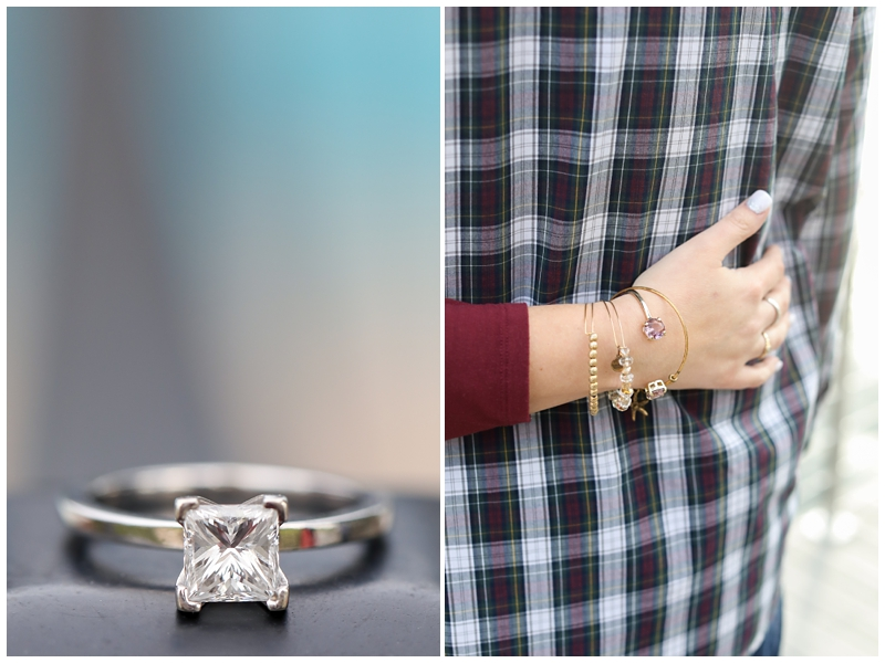 Engagement session jewelry