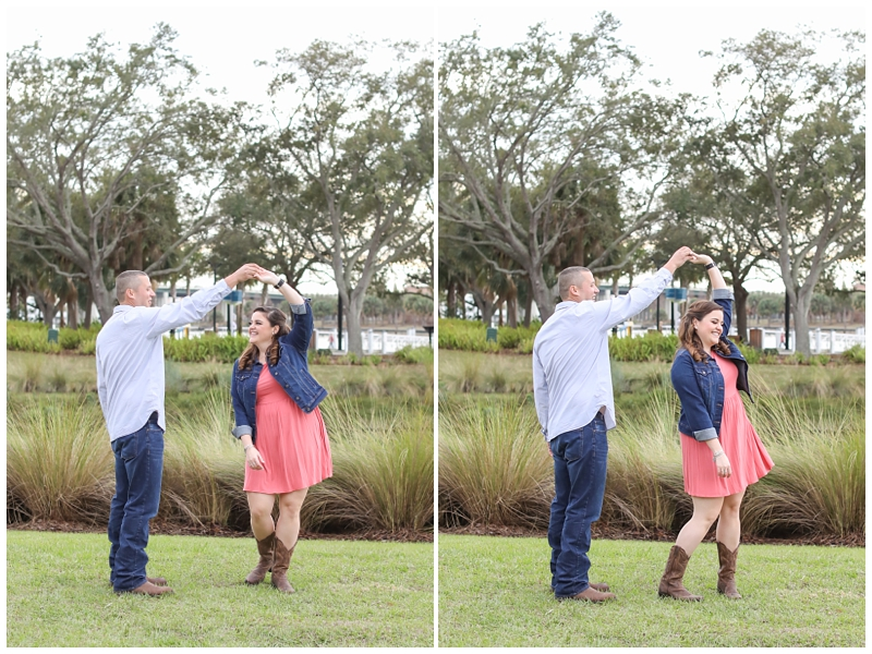 Engagement session dancing