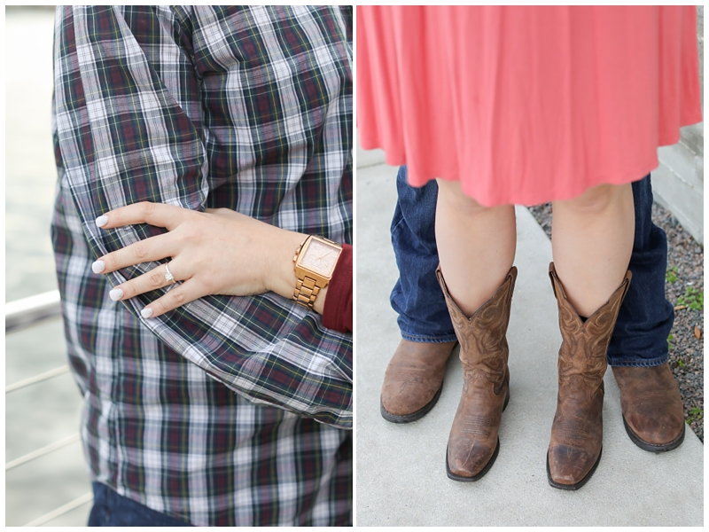 Engagement session cowboy boots