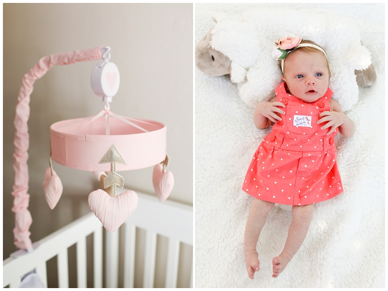 newborn girl pink mobile