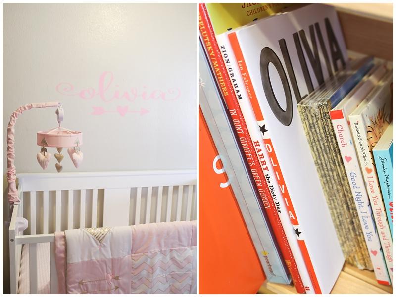 newborn Olivia crib and nursery