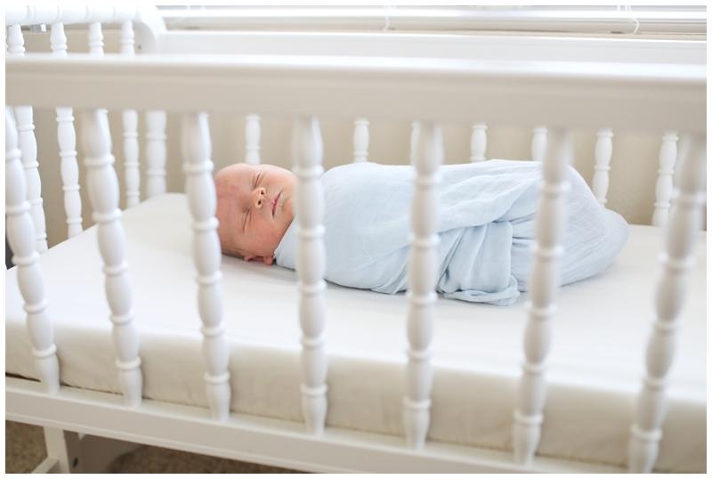 newborn boy crib