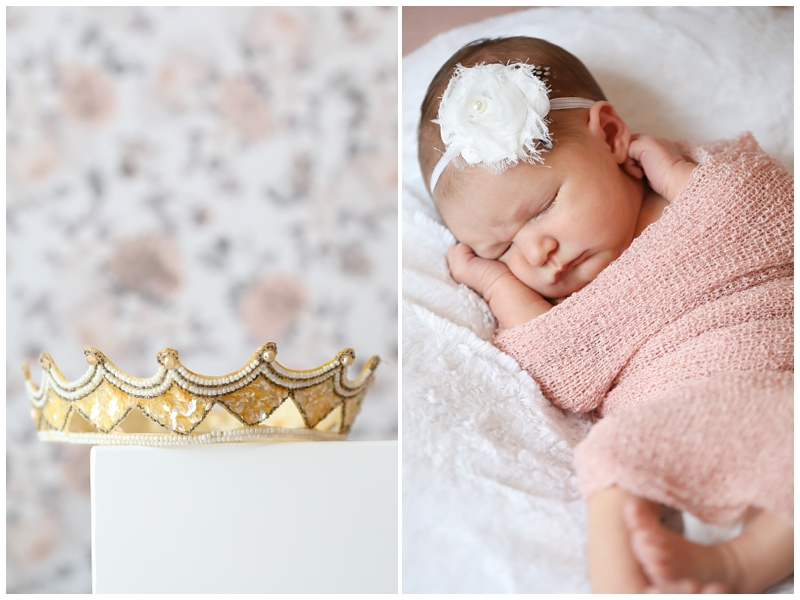 Newborn baby girl crown