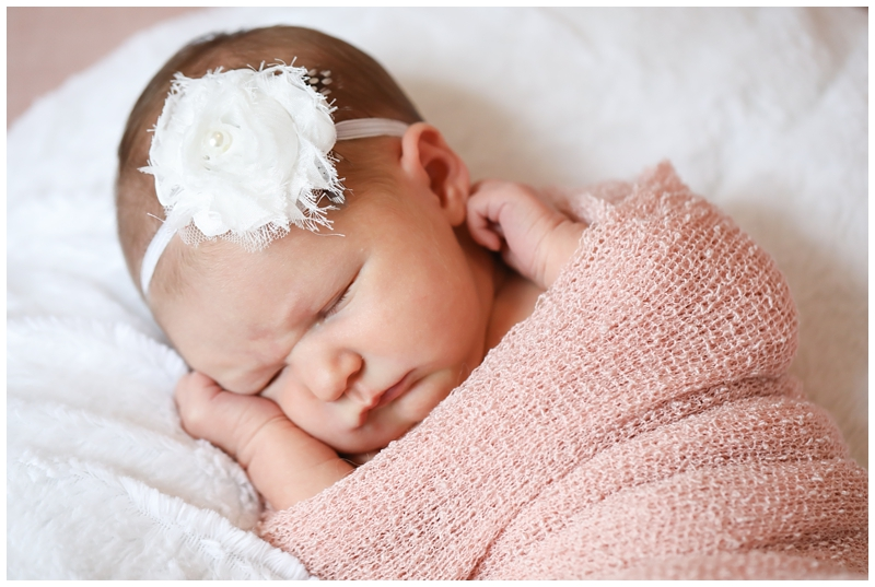 Newborn girl white headband
