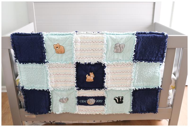 blue newborn baby quilt