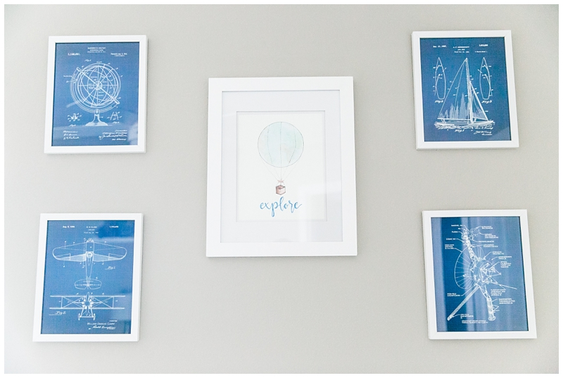 Vintage Blueprints nursery