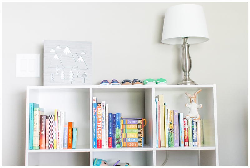 Nursery board books shelf