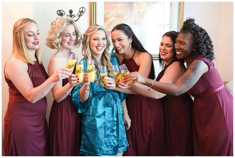 Bridesmaids mimosas