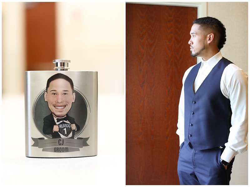 Personalized Grooms Flask