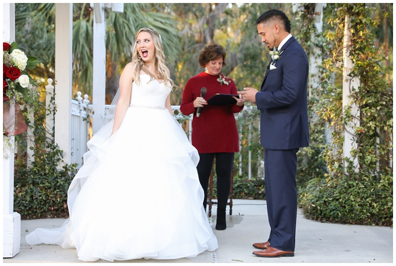Groom reads surprise vows