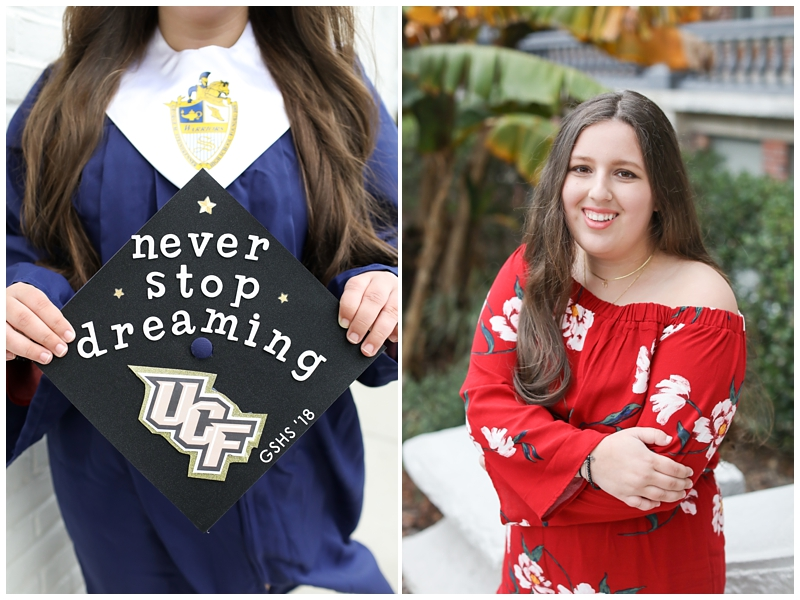 Decorated graduation cap senior pictures