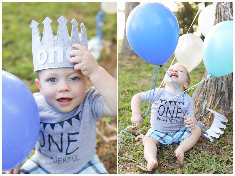 One Year Birthday Crown