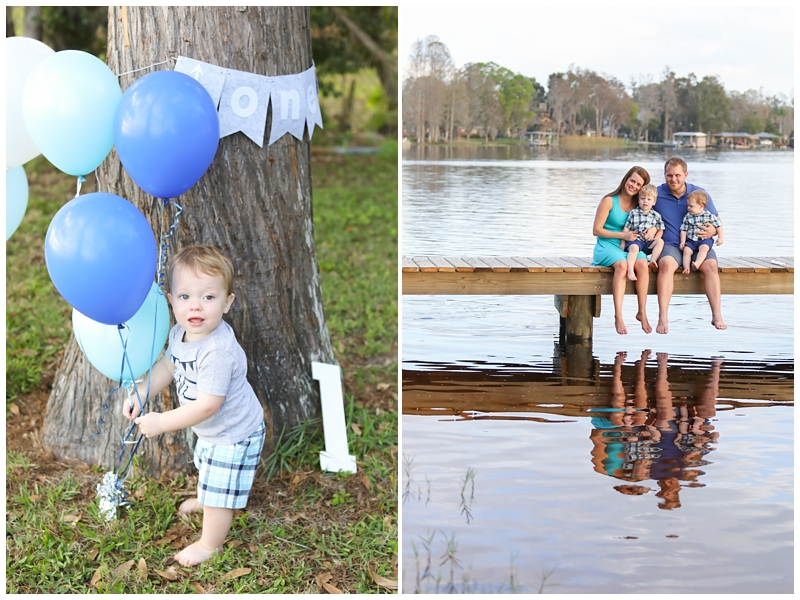 Family Pictures lake dock