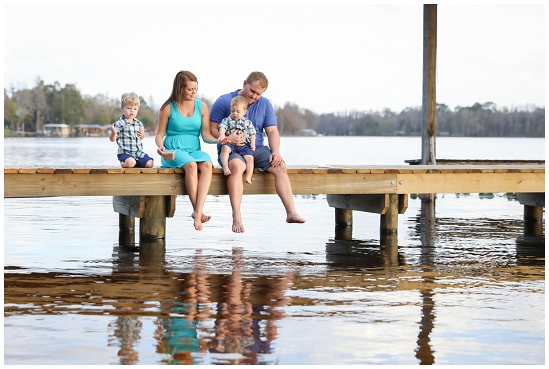 Odessa family lake dock pictures