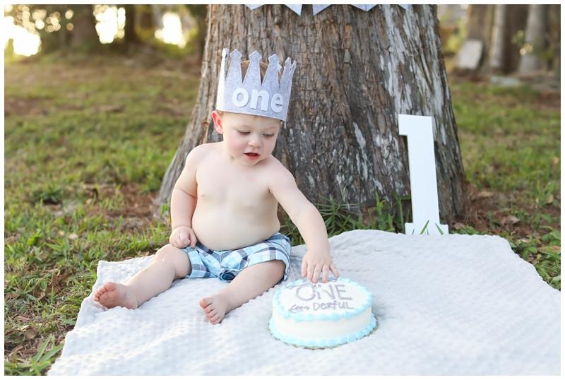 Westchase one year cake smash birthday