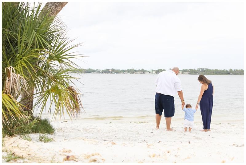 First birthday family beach photos