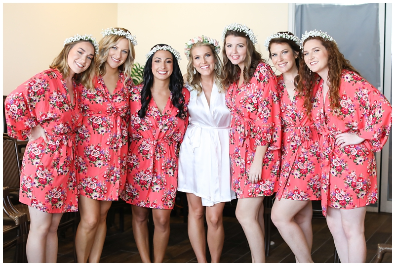 Floral robes bridesmaids floral crowns