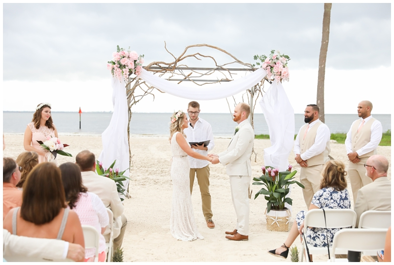 Tampa beach wedding MacDill