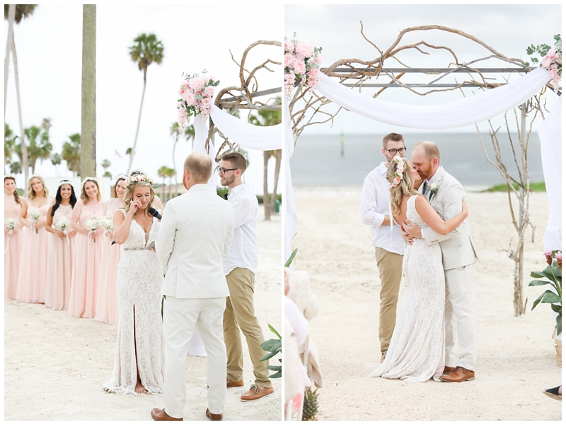 Tampa beach wedding ceremony