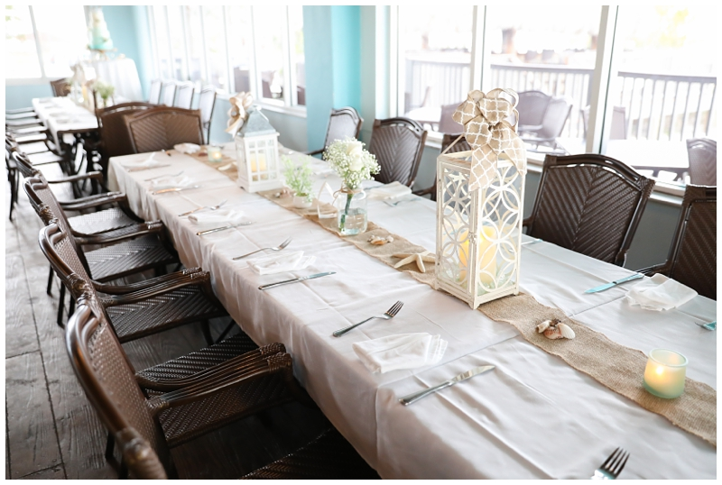 White sand nautical wedding tablescape