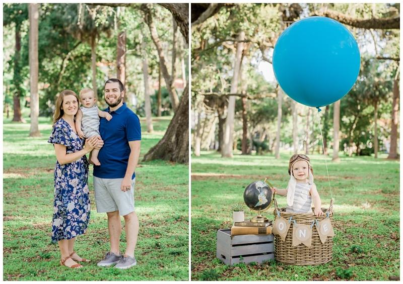 Hot air balloon first birthday photos