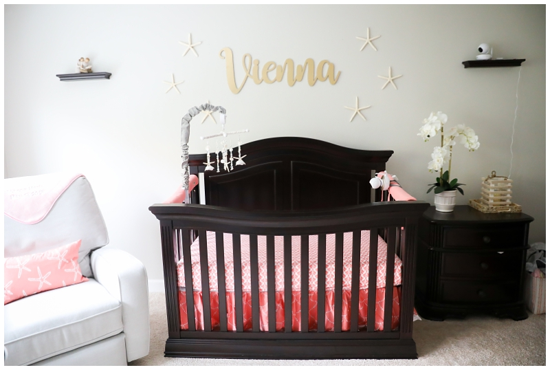 baby girl pink gold nursery