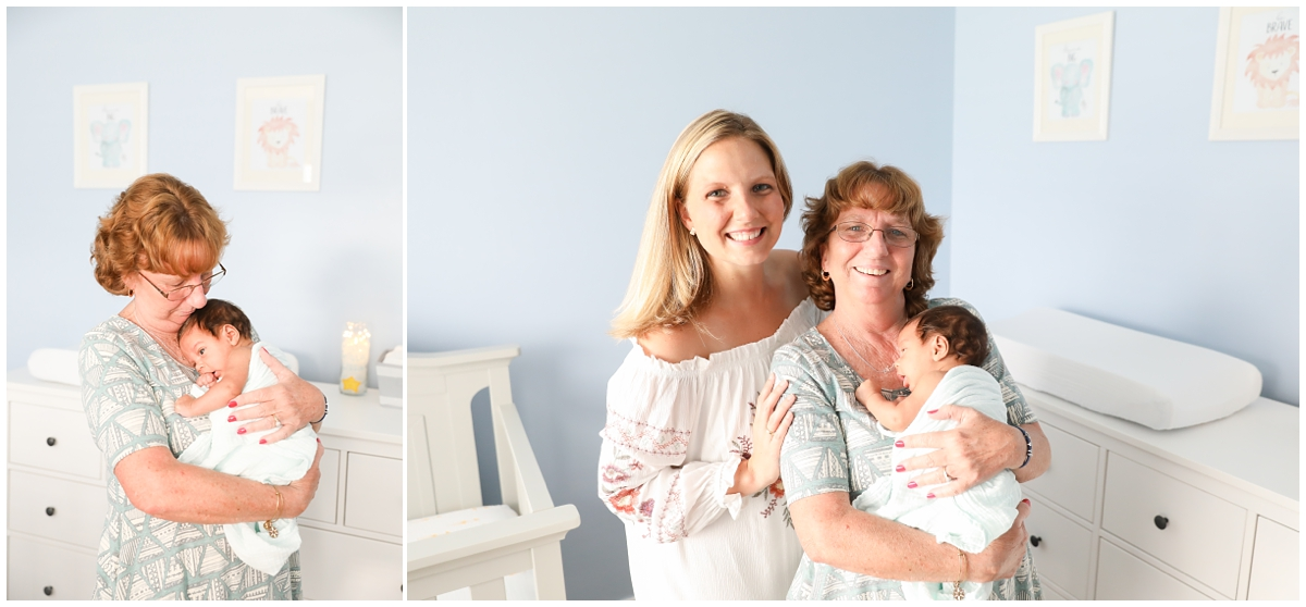 Newborn session grandma photo