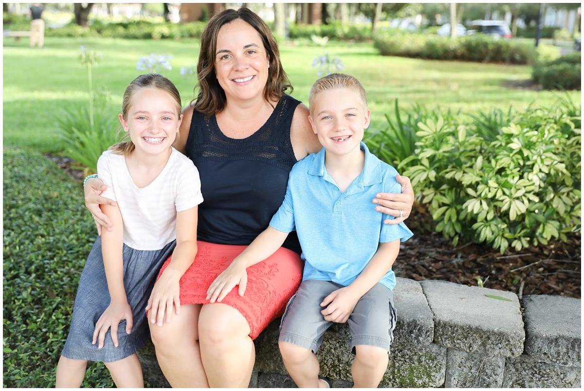 Mom daughter son family photos