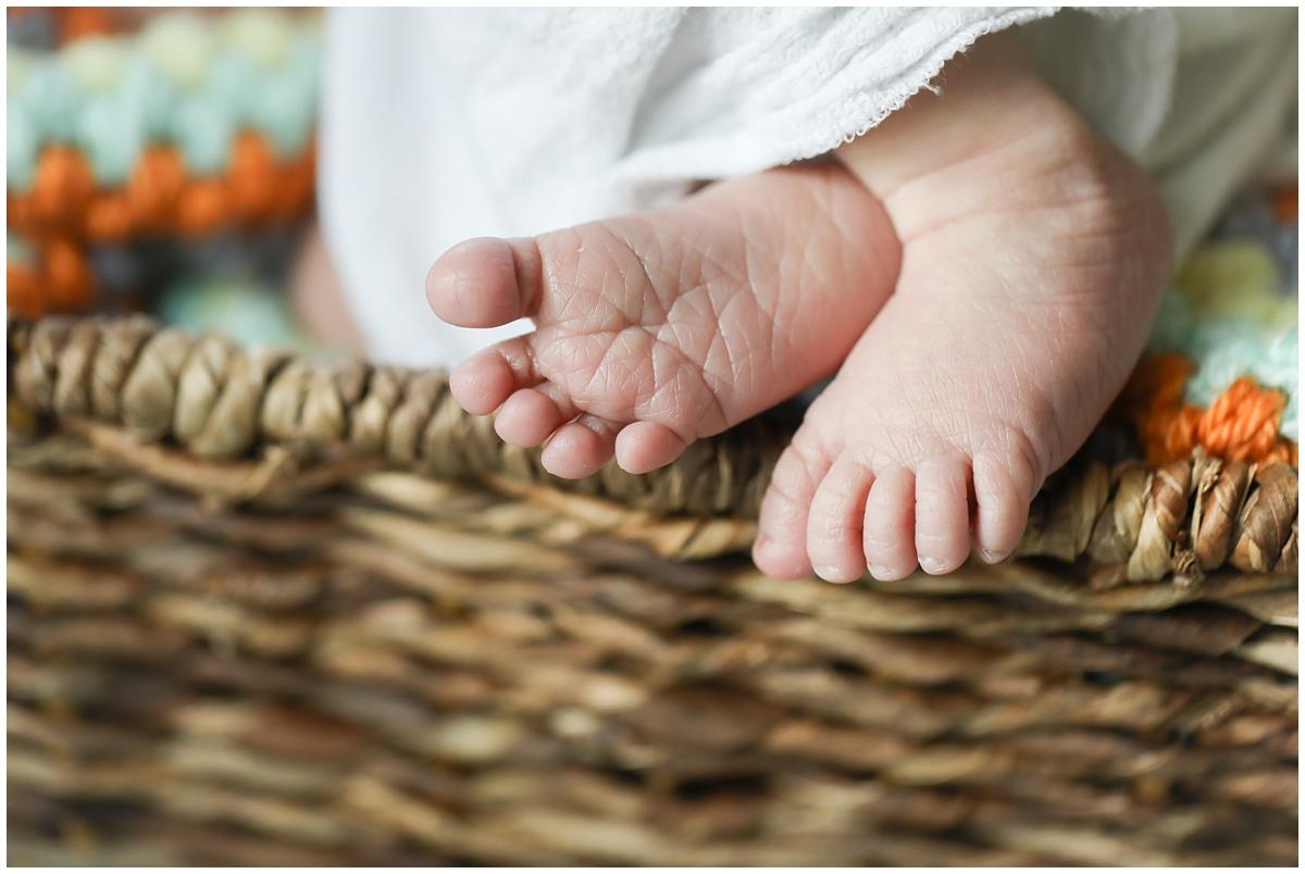 Baby toes macro detail photo