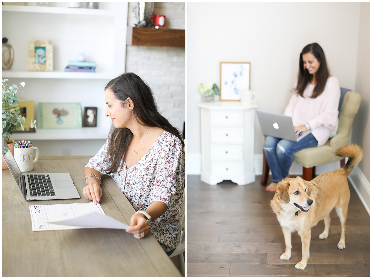 Work from home mom branding photos