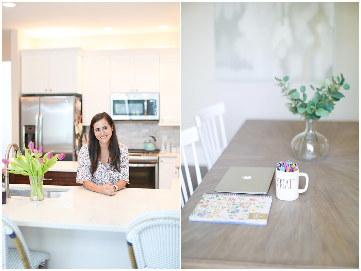 Instagram influencer white bright kitchen