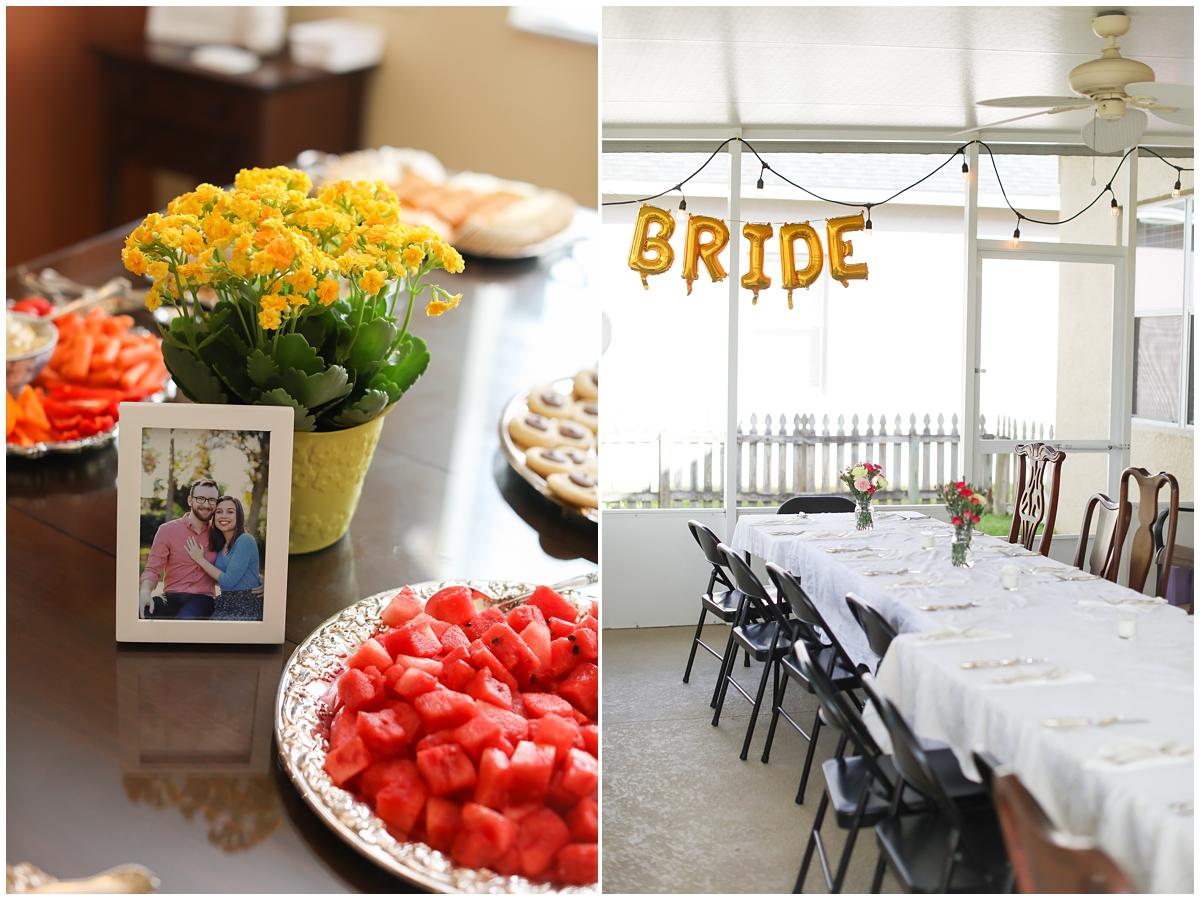 Bridal Shower Bride gold letter balloons