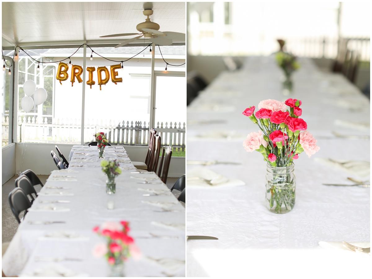 Bridal shower brunch long table